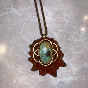 Barely worn third eye pine turquoise with om